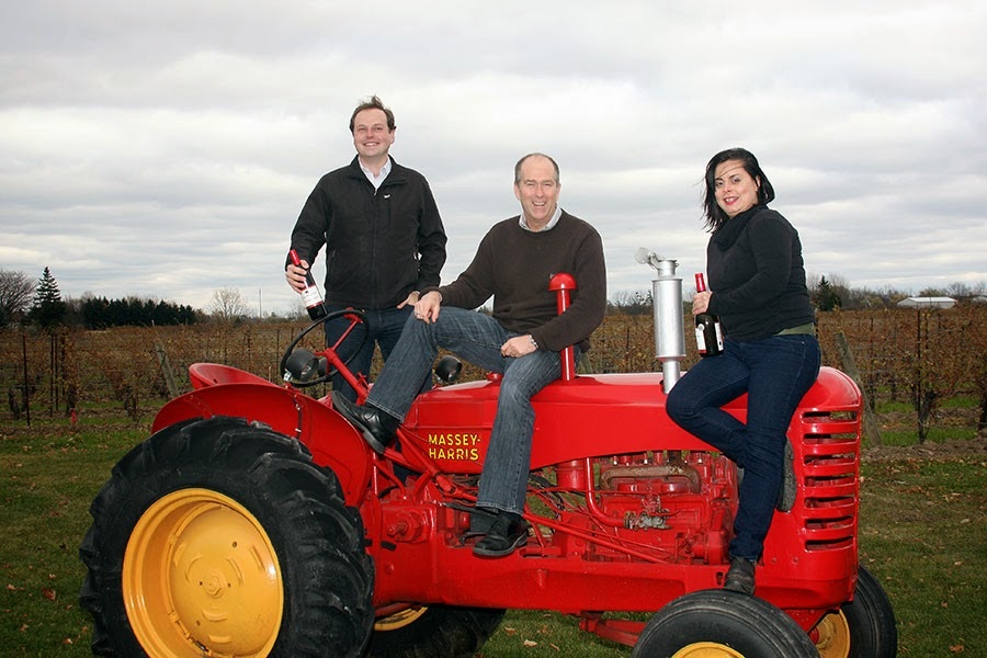 Patrick, Andrew and Yvonne from Red Tractor Wines