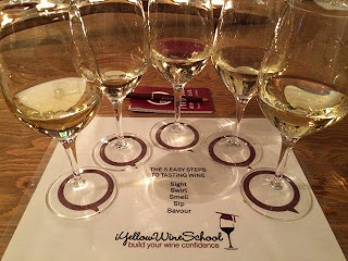 German wine tasting at iYellow Wine School
