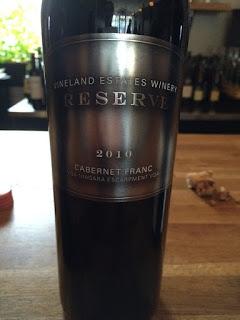 Vineland Estates Winery 2010 Reserve Cabernet Franc wine