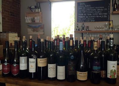 Bottles of Ontario Cabernet Franc wine