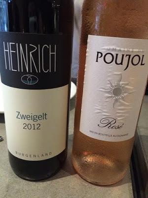 Zweigelt and Rose wine bottles