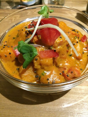 Pumpkin curry at Pukka restaurant in Toronto