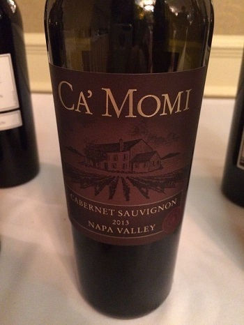 Ca'Momi Cabernet Sauvignon was a stand out at the California Wine Fair