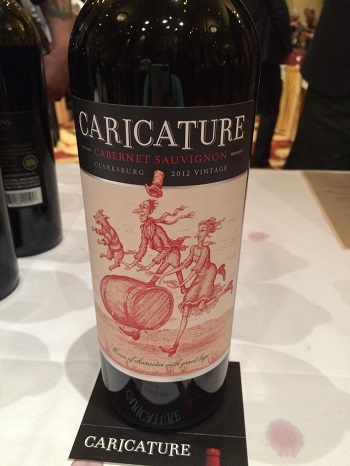Caricature red wine blend from Lodi, California