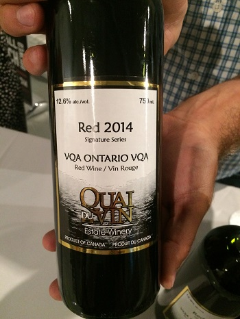 Red 2014 wine blend from Quai du Vin Winery
