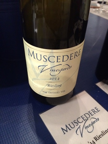 Muscedere Vineyards Riesling from Ontario's Southwest.