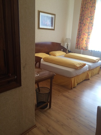The rooms at Hotel Am-Markt in Bacharach are comfortable and clean.