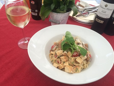 Pasta a la Bacharach at Hotel Am-Markt is named after the quaint town!