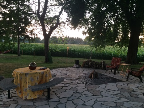 Gorgeous patio at The Vineyard Suite in Essex, Ontario.