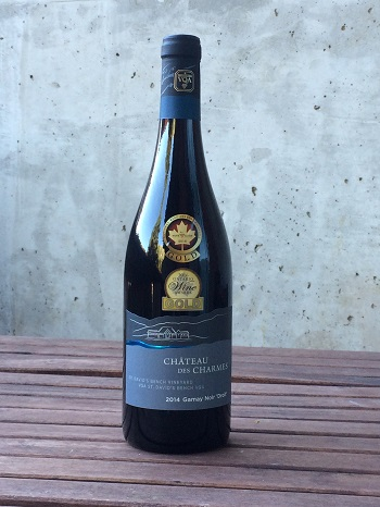 "Chateau des Charmes 2014 Gamay Noir ""Droit"" is a lighter red for Autumn sipping."