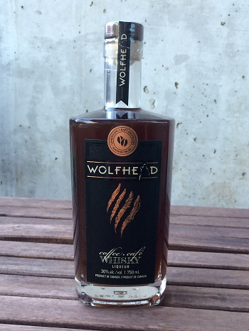 Wolfhead Distillery Coffee whisky is made with real cold brew espresso.