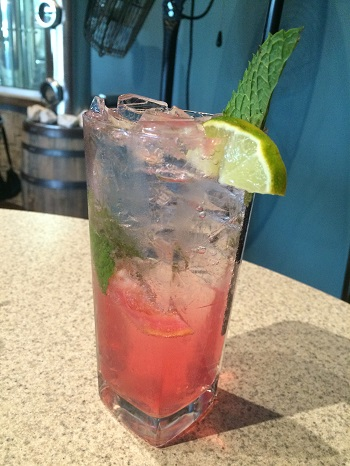 A grapefruit vodka mojito at Wolfhead Distillery is a fun option at dinner.