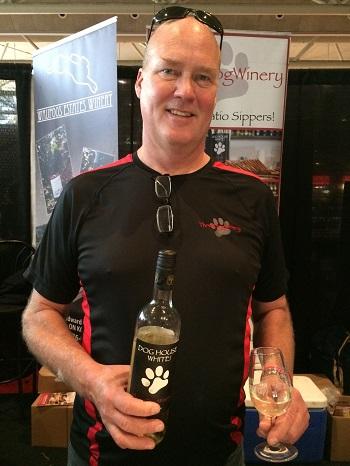 John Squair, winemaker at Three Dog Winery,