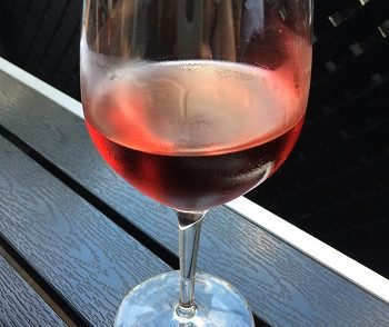 Rosé wine in glass
