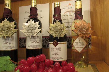 Viewpointe's award-winning wines