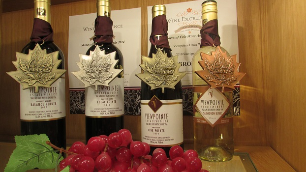 Viewpointe's award-winning wines