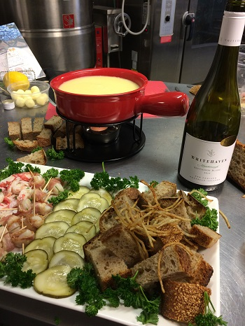 Fondue made with Whitehaven Sauvignon Blanc