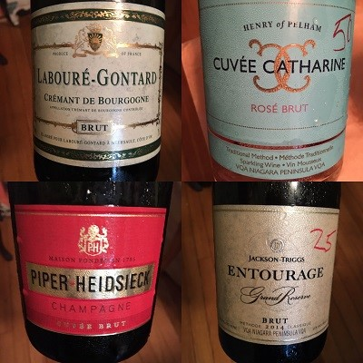 Four sparkling wines