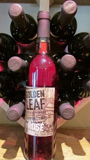 Golden Leaf Winery rosé wine