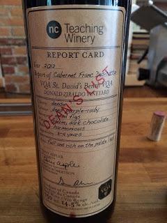 Dean's List Cabernet Franc wine