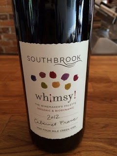 Southbrook 2012 Whimsy Cabernet Franc organic wine