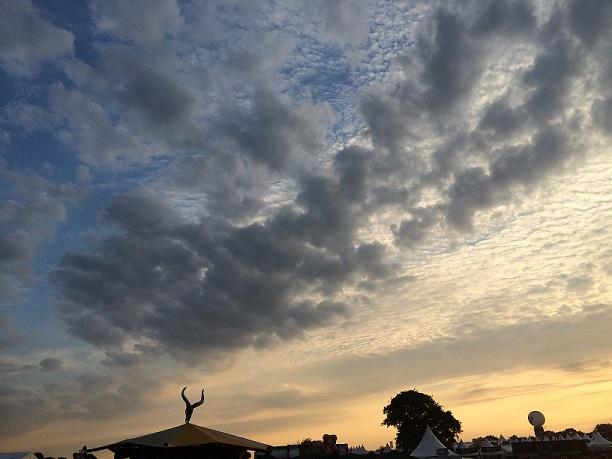 Sunset over Wacken Open Air