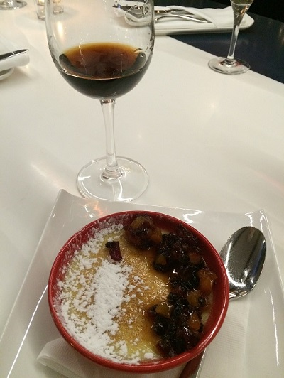 Spanish vermouth with creme brulee at Barsa Taberna in Toronto