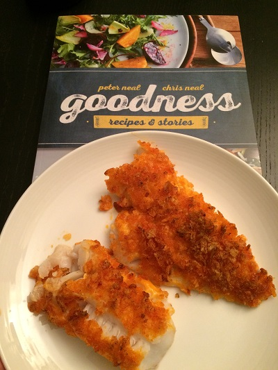 Crispy Cod from the Neal Brothers Goodness Cookbook