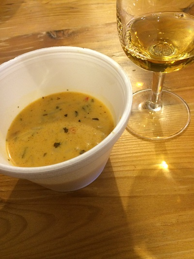 Rancourt Winery Gewurztraminer Icewine paired with Wicked Thai Soup