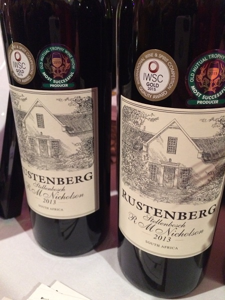 Rustenberg 2013 Red Blend wine from South Africa