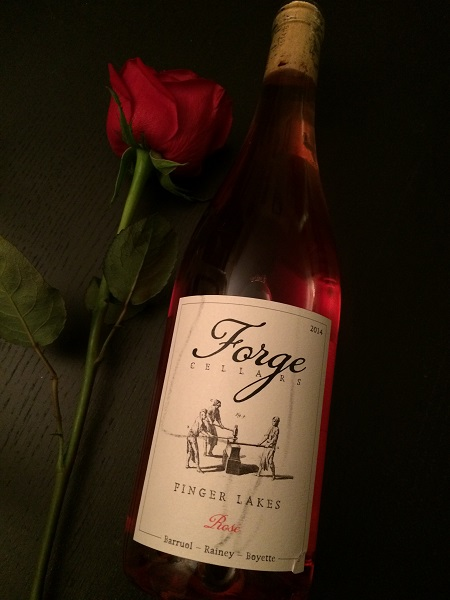 Forge Cellars Pinot Noir Rosé is one of the best wines from The Finger Lakes.