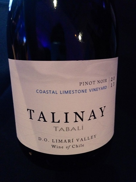 Tabali Talinay Pinot Nor wine from Chile.
