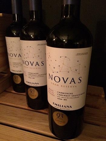 Emiliana Novas Carmenere Cabernet Sauvignon red blend wine