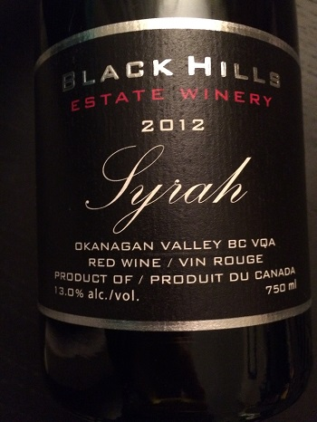 Black Hills Estate Winery 2012 Syrah is a lovely B.C. red wine.