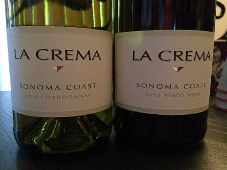 La Crema Sonoma Coast Chardonnay and Pinot Noir are nice California wine options