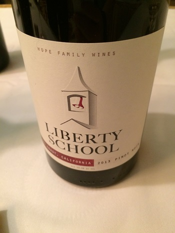 Liberty School 2013 Pinot Noir was a stand-out at the California Wine Fair in Toronto.