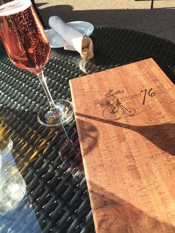 Lush Sparkling Wine at Kitchen 76 Restaurant in Niagara