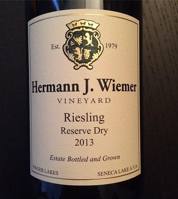 Hermann J. Wiemer Vineyard 2013 Riesling Reserve Dry