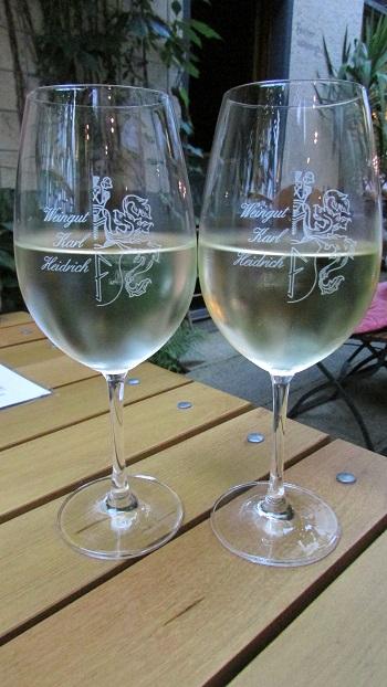 Wine tasting at at Weingut Karl Heidrich in Bacharach, Germany.