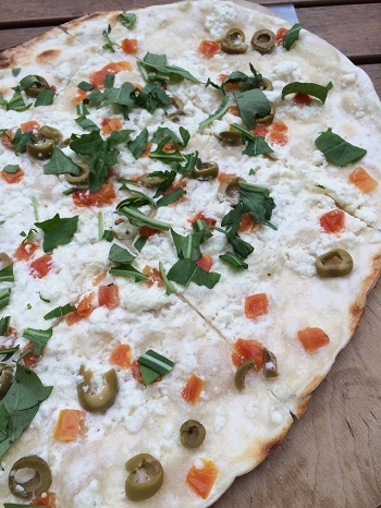 Discover delicious flammkuchen in Bacharach, Germany.