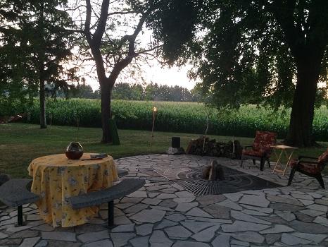 Gorgeous patio at The Vineyard Suite in Essex, Ontario.
