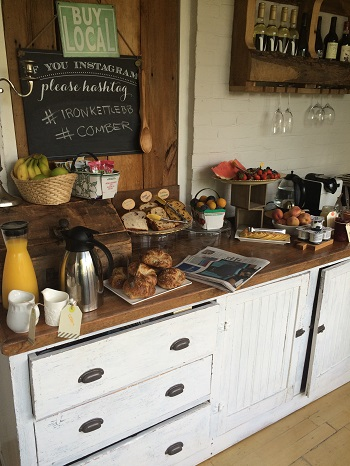 Delicious breakfast buffet at The Iron Kettle Bed and Breakfast in Comber, Ontario.