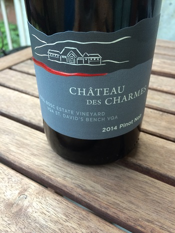 Chateau des Charmes – 2014 Paul Bosc Estate Vineyard Pinot Noir is a great light red wine for fall.