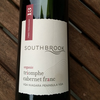 Southbrook Vineyards Triomphe Cabernet Franc is an organic wine from the Niagara region.