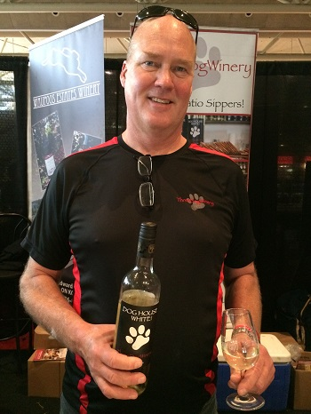 John Squair, winemaker at Three Dog Winery,