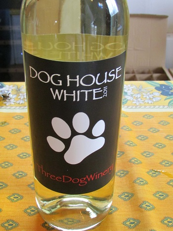White from Three Dog Winery.