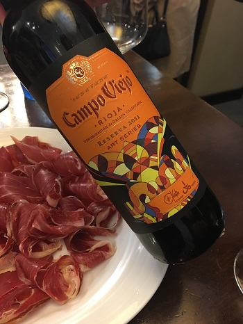 Campo Viejo with jambon