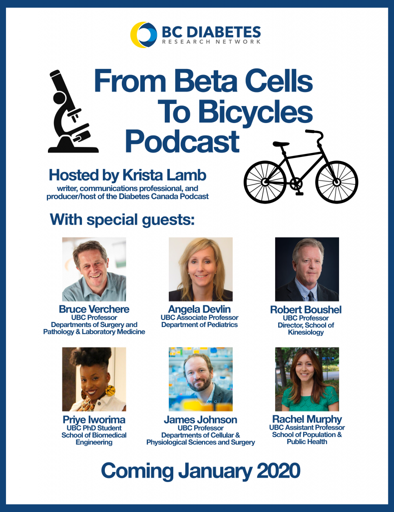 Poster for the From Beta Cells to Bicycles Podcast